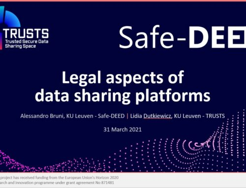 Legal aspects of data sharing – a TRUSTS & Safe-DEED Webinar