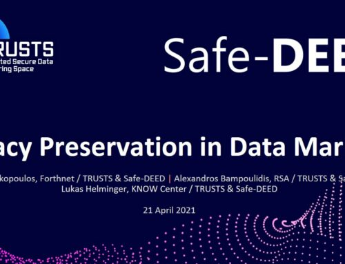Privacy Preservation in Data Markets – a TRUSTS & Safe-DEED Webinar